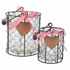 Country Metal Candle & Tea Light Lanterns
