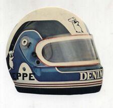 Adesivo Formula 1 OSELLA CASCO BEPPE GABBIANI sponsor Denim sticker F1 anni 80