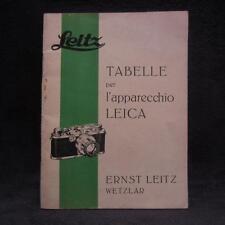 Leitz Tabelle per l'apparecchio Leica Maggio 1940 - Heft - Zeitschrift - Flyer