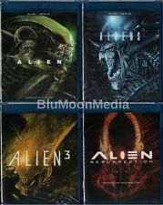 Alien 1 2 3 4 BLU-RAY Lot 4 Original Movie Set Collection Resurrection Brand NEW