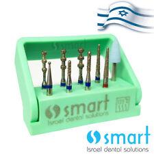 Dental FG Diamond burs set kit 9 pcs porcelain veneer preparation autoclave box