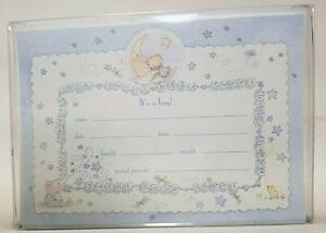 "Birth announcement Cards10pk Marcel Schurman Collection ""t's a Boy"" ""PJ&Friends"