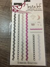 """Fashion Angels Insta Ink Temporary Tattoos 12 Count """"bracelets & rings"""""""