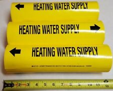 """New listing (15) Qty Seton Setmark Heating Water Supply Snap Pipe Markers 12Md, 4"""" to 5-7/8"""""""