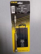 Push drill and 20pc mini drill set #61 to #80 540-403C