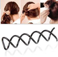 10Pc Black Spiral Spin Screw Hair Pins Clips Twist Barrette WEDDING Accessory PA
