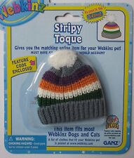 LLD Stripy Toque ski beanie hat fits most WEBKINZ cat dog pet CLOTHING new code