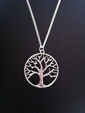 "SILVER TREE OF LIFE CHARM NECKLACE PENDANT 18"" CHAIN FREE GIFT BAG UK SELLER"