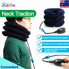 Air Inflatable Pillow Cervical Neck Headache Pain Traction Support Brace Device Red
