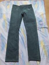 Geniale Batik Jeans Hose Oil Washed Nieten Infinity Neu Grün 38