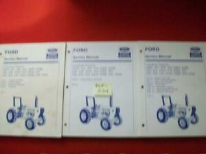 FORD NEW HOLLAND INDUSTRIAL TRACTORS SERVICE MANUAL SET OF 3 VOL. 230-545 MODELS