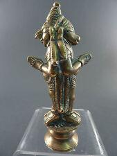 INDIAN POLISHED BRONZE FIGURE, 2 FACES, VISHNU AS BULL AND GARUDA