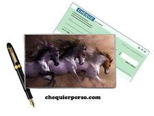 cheval chevaux 01-011 protège porte chéquier format portefeuille