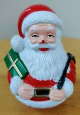 New ListingVintage Christmas Santa with present Roly-Poly 1960's - 3 1/2 inches tall
