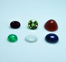 Emerald Tourmaline Iolite Rhodochrosite Peridot Opal Natural Loose Gem lot