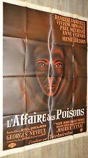 L' AFFAIRE DES POISONS  ! Henri Decoin  Danielle Darrieux  affiche cinema 1955