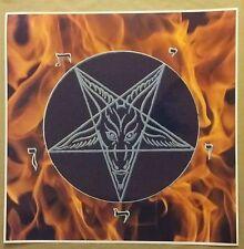 "Pentagram Fire Poster 24x24"" Evil Art Devil Fire satanic worship Fantasy SATAN"