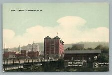 Clarksburg WV Glen Elk Bridge—Rare Antique PC Harrison County West Virginia 10s