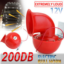 12V 200DB Super-loud Trumpet Air Bull Cow Horn Kit For Truck Car Auto Train Hot