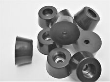 """3/4"""" Tall Tapered Rubber Feet - Audio, Amps, & Video Equipment. 1 1/2"""