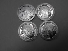 🔥🌟👍 LOT OF 4 - 1 OZ 999 FINE SILVER BUFFALO STACKABLE ROUNDS - SILVERTOWNE
