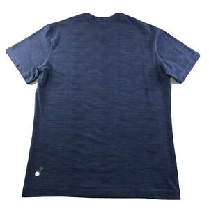 Men's Lululemon Activewear Athliesure 3M Logo Shirt Navy Blue Size X Large