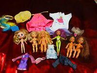 lot 7 vétements+6 mini   poupées dont   ans 1994 mattel 13cm===13piéces en tout