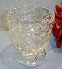 Hazel Atlas Gothic Big Top Peanut Butter Crystal Sherbet 40s 50s 60s Glassware