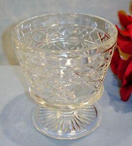 Hazel Atlas Gothic Big Top Peanut Butter Crystal Sherbet 40s 50s 60s Glassware