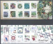 JAPAN 2016 WINTER GREETING STAMPS SELF-ADHESIVE SHEETS MNH VERY FINE