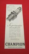 ADVERTISING PUB PUBLICITE ANCIENNE ADVERT 2.3 SUPREMATIE MONDIALE CHAMPION 1926