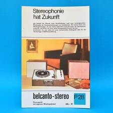 belcanto-stereo Phonogerät DDR 1969   Prospekt Werbung Werbeblatt DEWAG P28 G