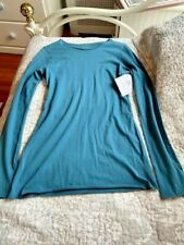 Beyond Yoga Women's Long Sleeve Top Dusty Blue Size Small 100% Organic Cotton