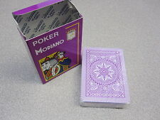 Modiano Italian 100% Plastic Poker Game Playing Card Deck PURPLE (PACK OF 12)