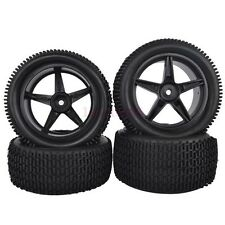 RC 1:10 Off-Road Car Buggy Front &Rear Rubber Tyres Tires &Wheel Rim 66051-66061