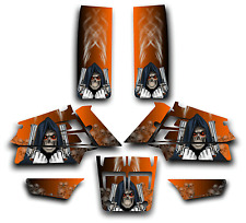 YAMAHA BANSHEE GRAPHICS DECAL KIT GRIM REAPER REVENGE STICKER WRAP ORANGE