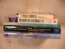 Lot 5 French Language books Le Francais Commerical Au Bureau Lire avec plaisir &