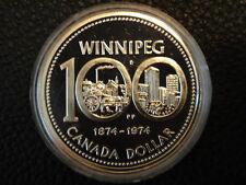 Canada 1974 Large Silver Specimen $1-Winnipeg Centennial