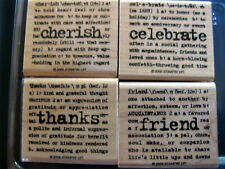 """STAMPIN' UP """"LEXICON OF LOVE"""" - 4 PCS - RETIRED!!"""
