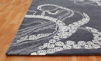 Rug UK Octopus Gray Handmade Modern Style 100% Wool Rugs & Carpet