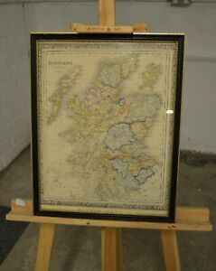 Map Of Scotland (The London Series Of Modern Maps), Framed - 040221-02
