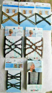 Scunci Upzing Beaded Hair Updo Stretch Style Comb Hairzing Medium Secure Hold