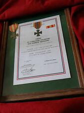 """Légion Étrangère-DIPLÔME MÉDAILLE """"CROIX COMBATTANT VOLONTAIRE"""" INDOCHINE-REPRO"""
