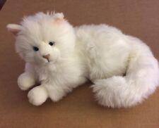 """Russ Laying White Cat Plush Named Nikki 12"""""""