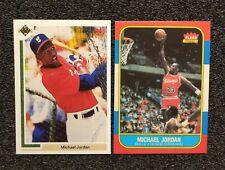 1986 Michael Jordan Basketball 1991 Baseball Rookie Card Lot. Reprints Mint...