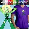 Peridot Steven Universe Crystal Gems SU Fusion Cartoon Mens Tee V-Neck T-Shirt