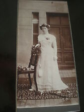 Cdv cabinet photograph wedding bride bridesmaid by Engel Berlin Germany c1900s