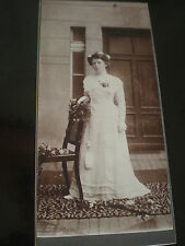 Cdv cabinet photograph wedding bride bridesmaid by Engel Berlin Germany c1900s