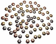 """6x2mm Flower Gold / Silver / Copper Plated Steel Bead Cap - 6-1/2"""" Strand"""