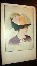 """Antique  """" BEAUTIFUL LADIES & ROMANTIC """"  Post Card - Appr. 1905-14. Unused"""